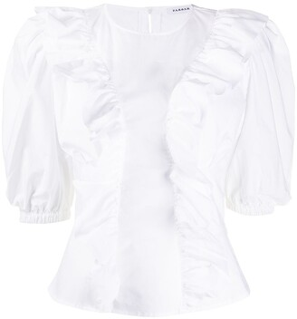 P.A.R.O.S.H. Caktun ruffled neck dress