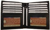 AG Jeans A&G Wallets Men's Genuine Leather European Bifold Wallet Slim Hipster 2 Windows Bk