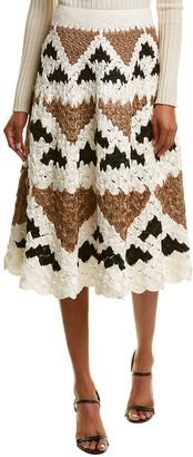 Oscar de la Renta Crocheted Skirt