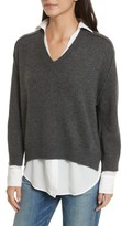 Brochu Walker Women's V-Neck Layered Pullover