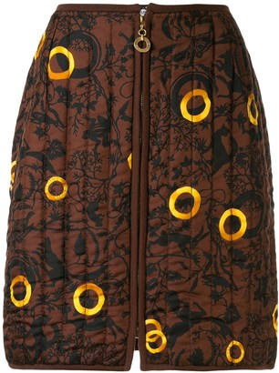 Céline Pre Owned Animals Print Quilted Skirt