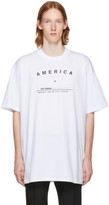 Raf Simons White 'America' Big Fit T-Shirt