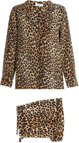 Equipment Lillian leopard-print silk pyjama set
