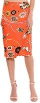 Emilio Pucci Floral-Print Mock-Wrap Skirt