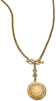 Ben-Amun Golden Pocketwatch Locket Necklace