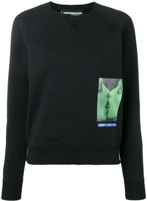 DSQUARED2 small graphic logo print sweatshirt