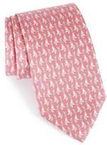 Salvatore Ferragamo Men's Dharma Elephant Print Silk Tie