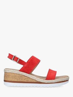 Carvela Saint Suede Cork Wedge Sandals