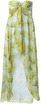 MSGM long draped printed dress - women - Silk/Polyester - 42