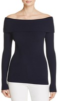 MICHAEL Michael Kors Off-the-Shoulder Ribbed Sweater
