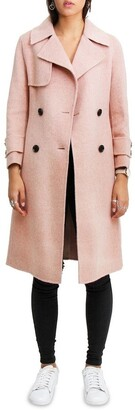 Belle & Bloom Endless Attention Rose Pink Wool Coat