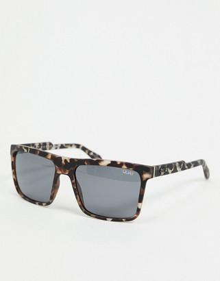 Quay Let It Run mens square sunglasses in tort