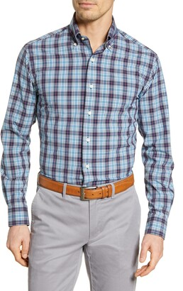 Peter Millar Craftwoven Regular Fit Plaid Button-Down Shirt
