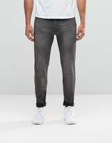 Antioch Spray on Skinny Jeans in Washed Gray