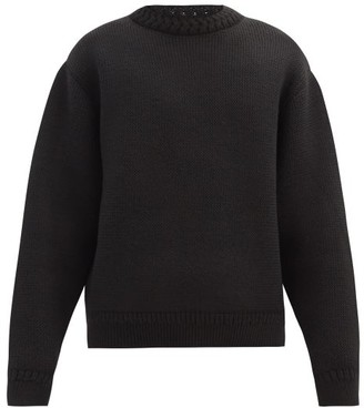 Haider Ackermann Drop-shoulder Fleece-wool Sweater - Black