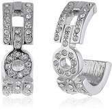 Jean Pierre Women's Stud Earrings White Zirconia 14519 RH