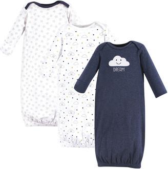 Hudson Baby Boys' Infant Gowns Navy - Navy 'Dream' Three-Piece Gown Set - Newborn