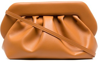 Themoire Bios faux-leather clutch
