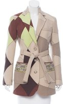 Emilio Pucci Abstract Print Wool Coat