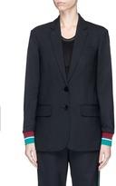 Tibi 'Dempsey' stripe cuff boyfriend blazer