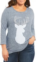 Moa Moa Plus Snow Deer Tunic