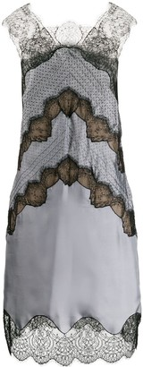 Fendi Chevron Lace Shift-Dress