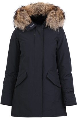 Woolrich Hooded Fur Trimmed Coat