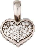 Lagos Caviar Pave Heart Pendant