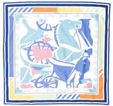 Hermes Puzzle II Cotton Scarf