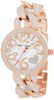 Betsey Johnson Women&s Blush Chain Link Bracelet Watch