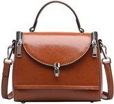 SAIERLONG Ladies Designer Womens Cowhide Genuine Leather Handbags Shoulder Bags