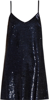 Ashish Sequin-embellished silk-georgette mini dress