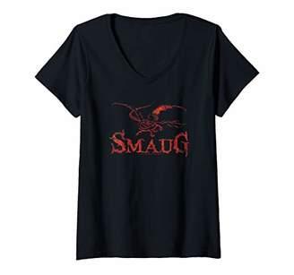 Dragon Optical Womens Hobbit Smaug V-Neck T-Shirt