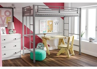 Better Homes & Gardens YourZone Metal Loft Bed, Twin Size, Multiple Colors Available