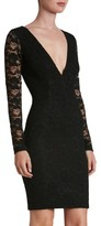 Dress the Population Women's 'Erica' Plunge Neck Lace Body-Con Dress