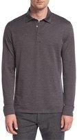 Ermenegildo Zegna Herringbone Long-Sleeve Polo Shirt