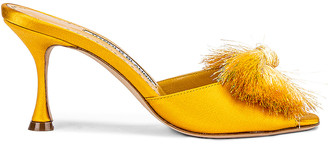 Manolo Blahnik Railda 70 Sandal in Yellow | FWRD