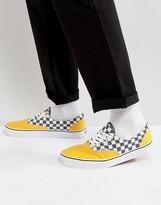 Vans Era Checkerboard Plimsolls In Yellow Va38frmv3