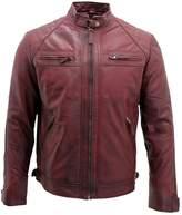 Infinity Men's Retro Leather Racing Biker Jacket M