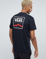 Vans T-Shirt With Back Print In Black VA2X4TBLK