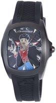 Chronotech Men's CT.7076M/02 Black Rubber Band watch.