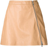 GUILD PRIME zip up skirt - women - Lamb Skin - 34