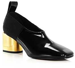 Proenza Schouler Women's Square-Toe Block-Heel Pumps