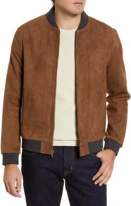 Nordstrom Signature Suede Bomber Jacket