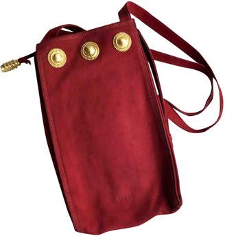 Loewe Red Suede Handbags