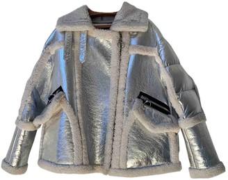 Nicole Benisti Silver Shearling Coat for Women