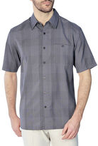 Haggar Microfiber Plaid Shirt