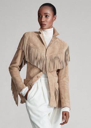 Ralph Lauren Bryleigh Lamb-Suede Jacket