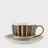 Paul Smith for Thomas Goode - Signature Stripe Bone-China Tea Cup and Saucer