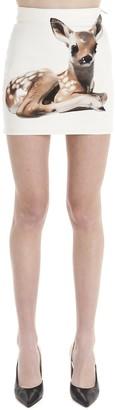 Burberry Deer Print Denim Mini Skirt